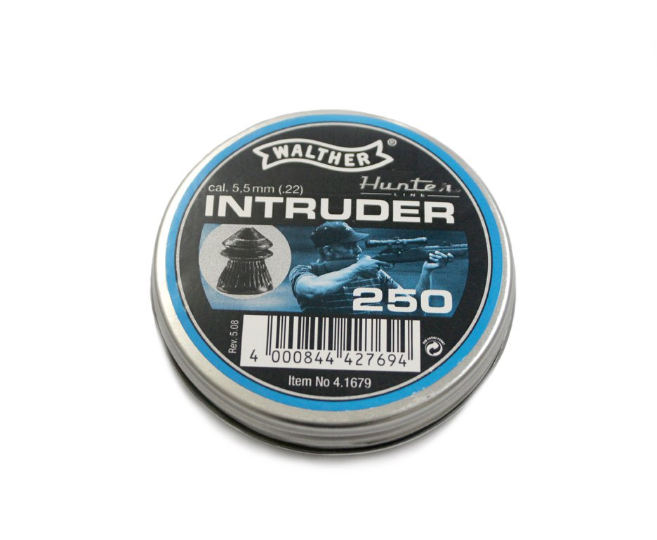 Chumbinho Walther Intruder Calibre 5,5 Mm - 250 Unidades - Umarex