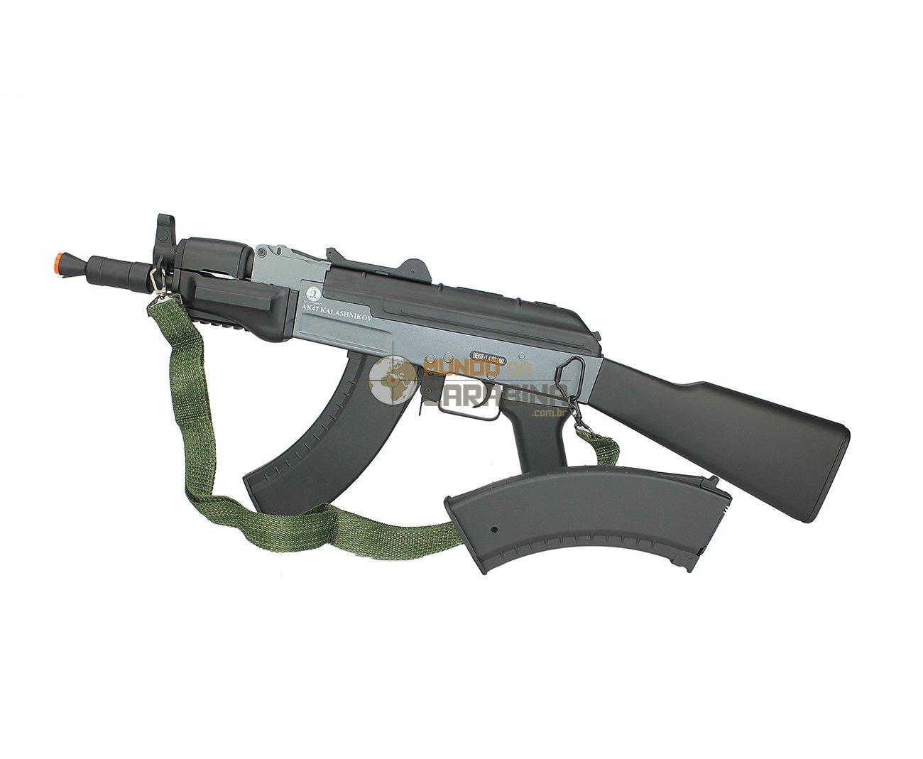 Rifle Airsoft Ak Spetsnaz Full Metal - Calibre 6,0 Mm - Kalashnikov