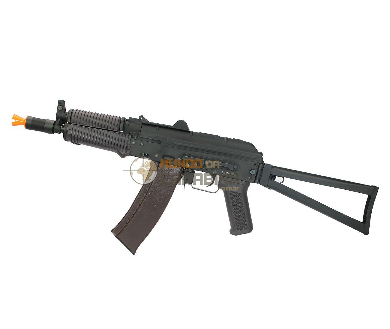 Rifle Airsoft Aks 74u Full Metal - Calibre 6,0 Mm - Cyma