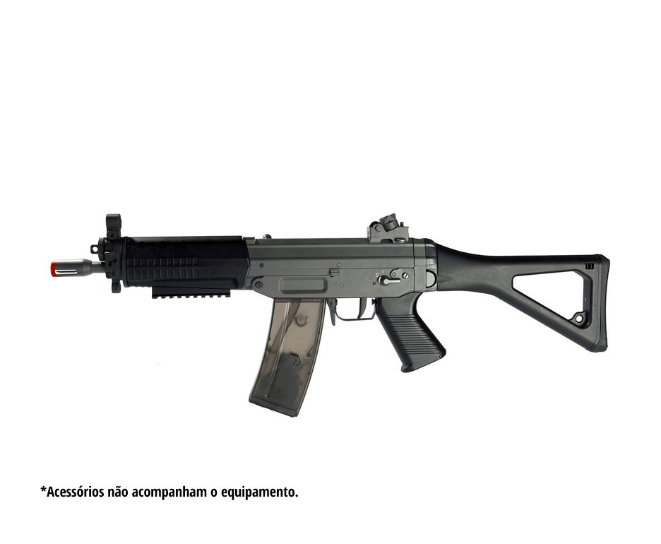 Rifle Airsoft 552 Ris Full Metal Com Blow Back Calibre 6,0 Mm - Cybergun
