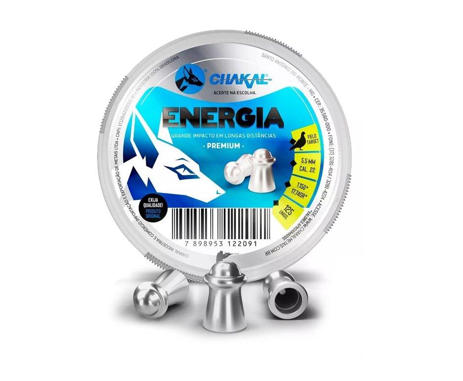 Chumbinho Energia Calibre 5,5 Mm - 125 Unidades - Chakal