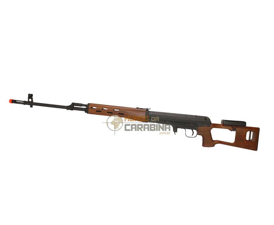Rifle De Airsoft  Sniper Svd Wood Spring Cal 6,0 Mm Kalashinikov - King Arms