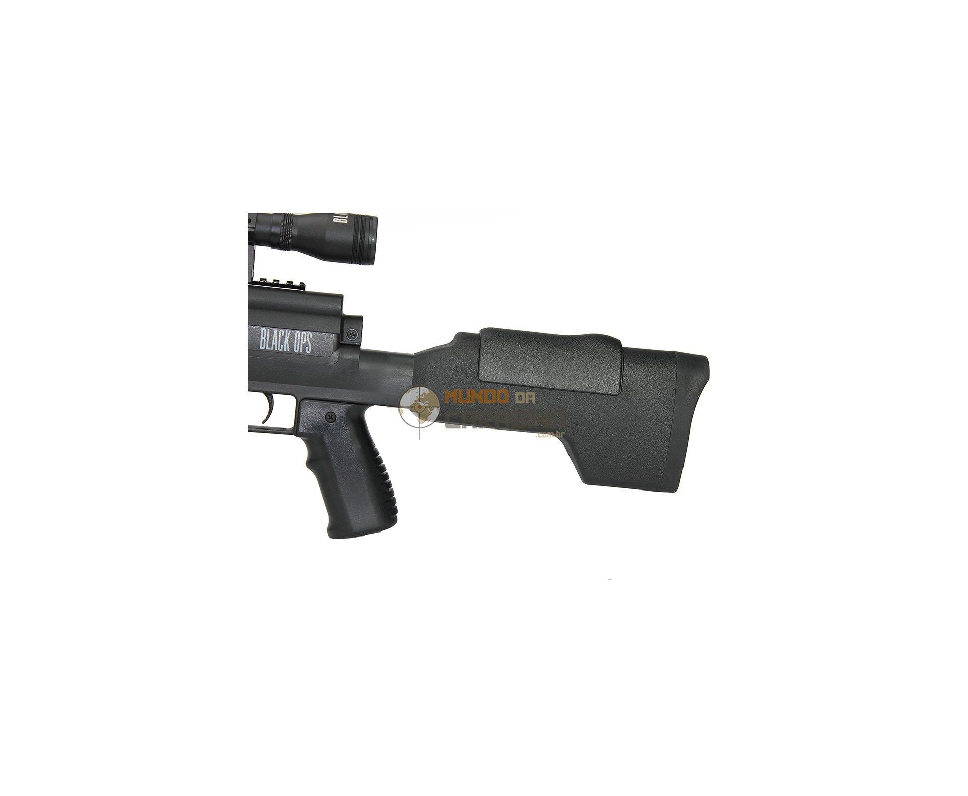 Carabina De Pressão Sniper Black Ops Cal 5,5mm Gas Ram 60kg Rossi + Luneta 4x32