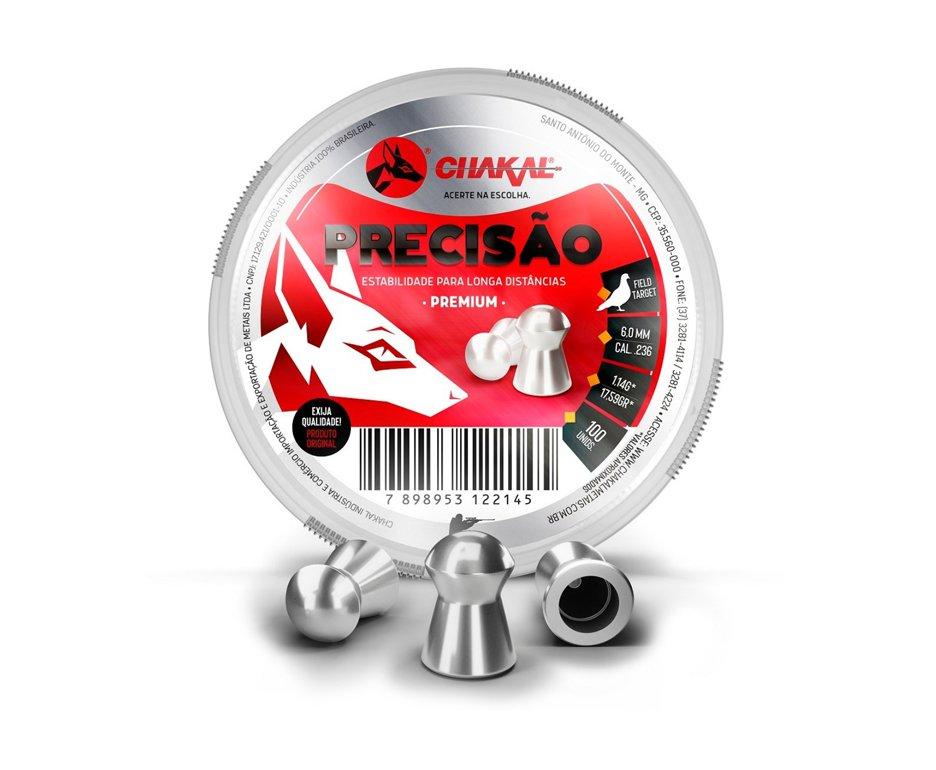 Chumbinho Precisão Calibre 6,0 Mm - 100 Unidades - Chakal