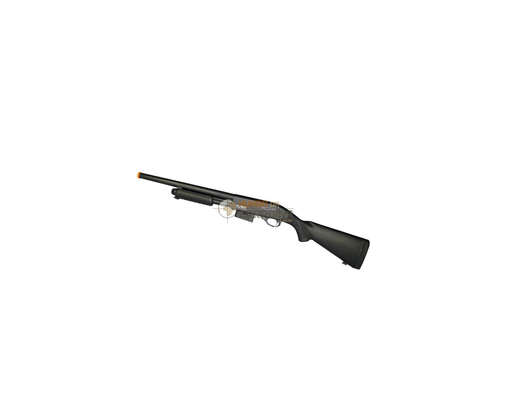 Shotgun Airsoft Sg Versão Longa - Full Metal - 6,0 Mm - Swiss Arms