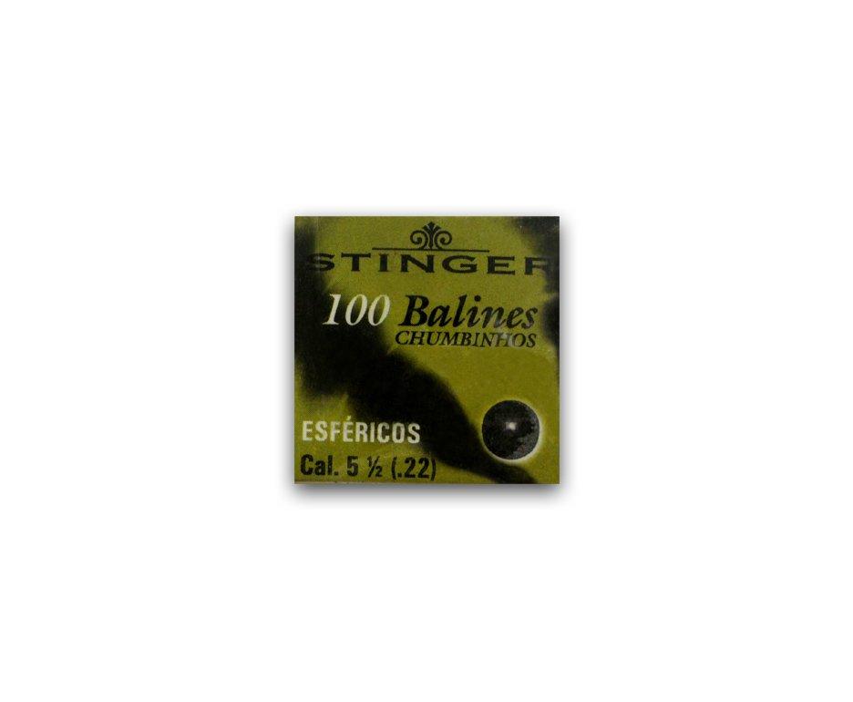 Chumbinhos Esféricos Calibre 5,5 Mm - 100 Unidades - Stinger