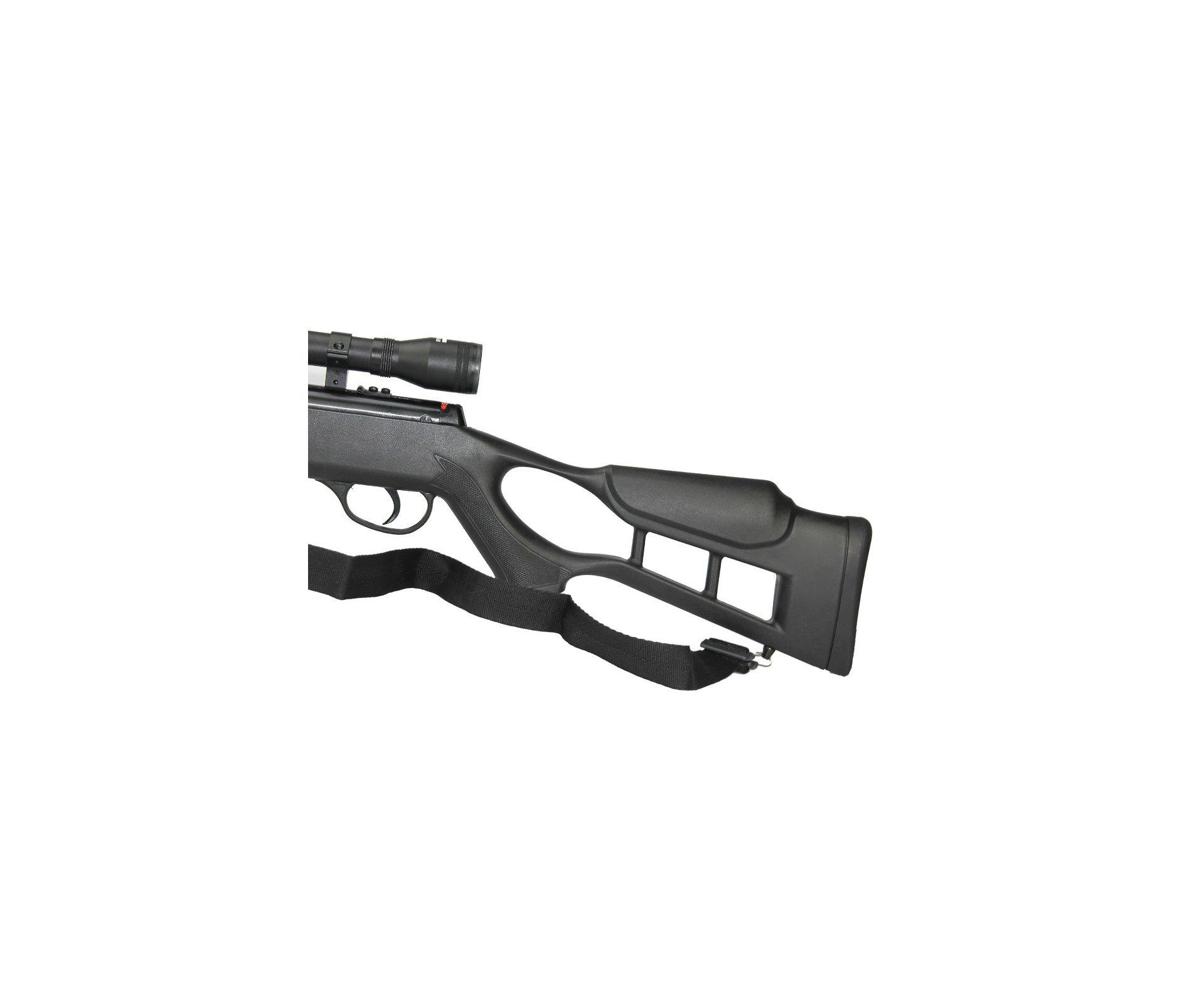 Carabina De Pressão Hatsan Striker Combo Especial - Cal 5,5mm + Pistão Pneumático + Luneta 4x32 + Bandoleira + Chumbinho + Case Rossi