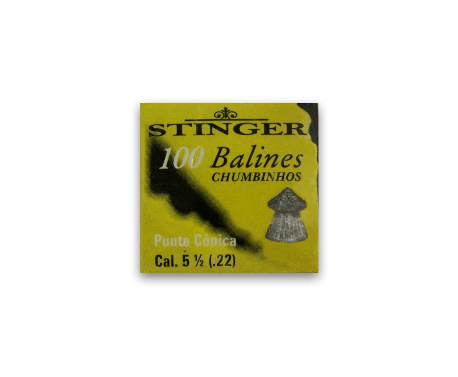 Chumbinhos Ponta Conic Calibre 5,5 Mm - 100 Unidades - Stinger