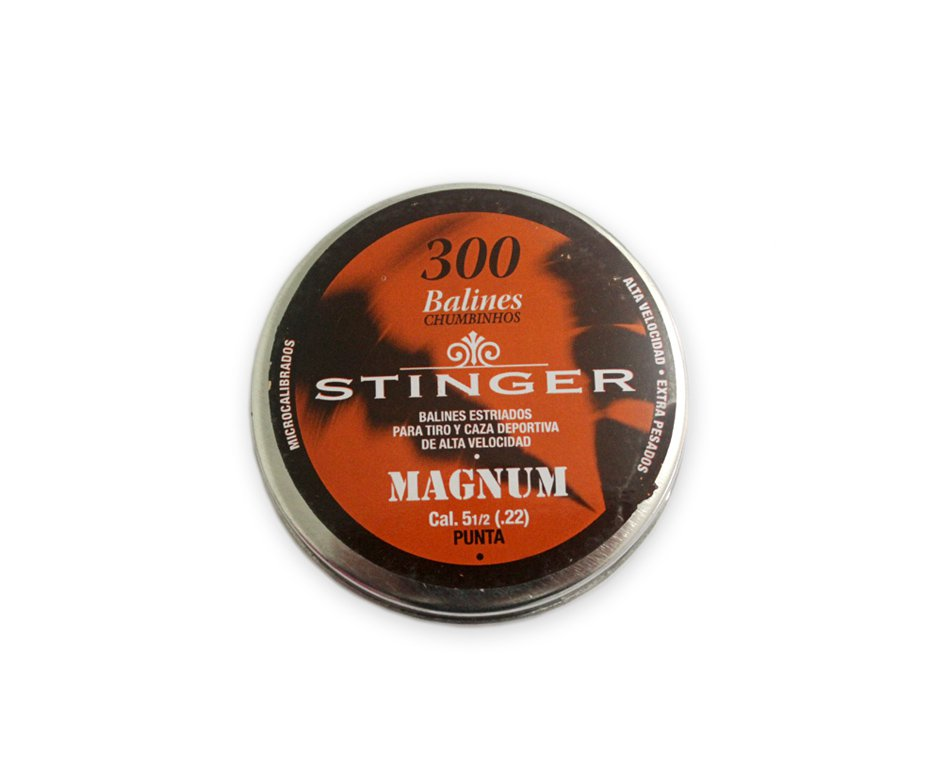 Chumbinhos Magnum Calibre 5,5 Mm - 300 Unidades - Stinger