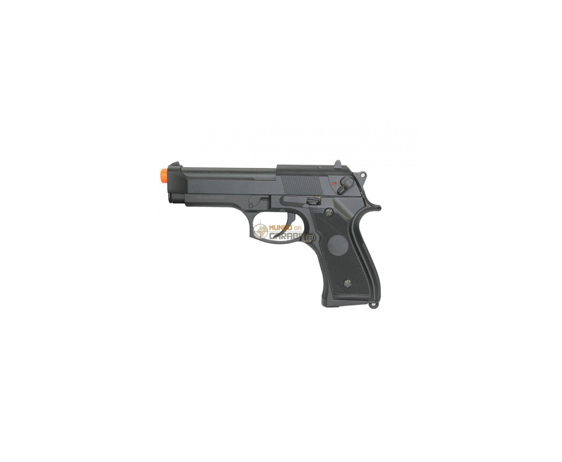 Pistola De Airsoft Eletrica M92f S&w Bivolt + Esferas 0,20g + Case Deluxe + Coldre - Cyma