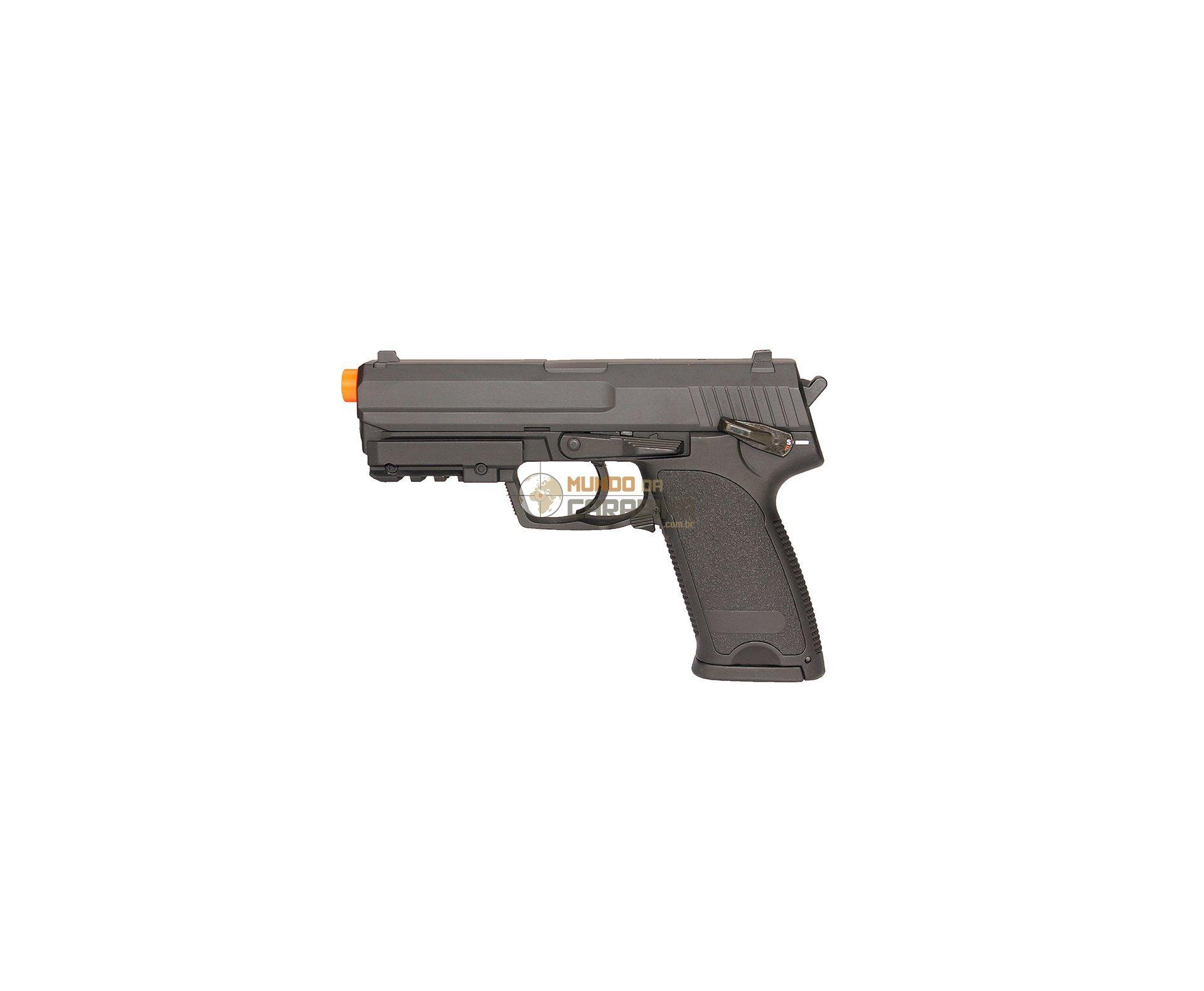 Pistola De Airsoft Eletrica Usp Bivolt + Esferas 0,20g + Case Deluxe + Coldre - Cyma