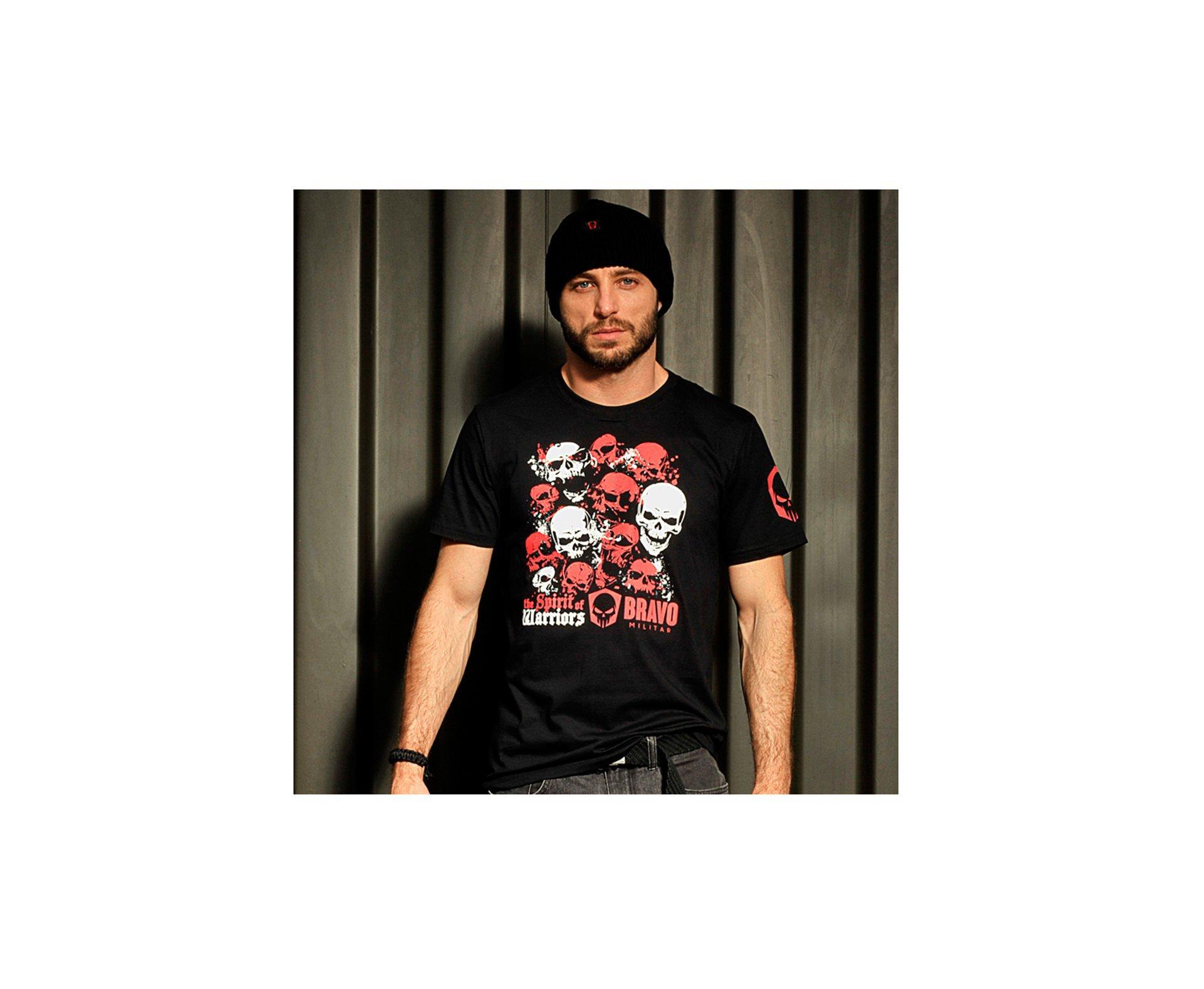 Camiseta Estampada Spirit Of Warriors Preta -  Bravo
