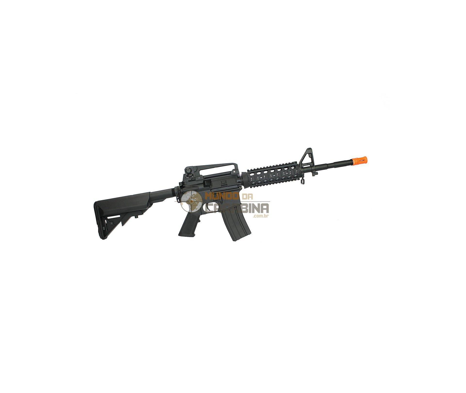 Rifle De Airsoft M4a1 Ris Long Full Metal - Bivolt - Cal 6mm - Cyma