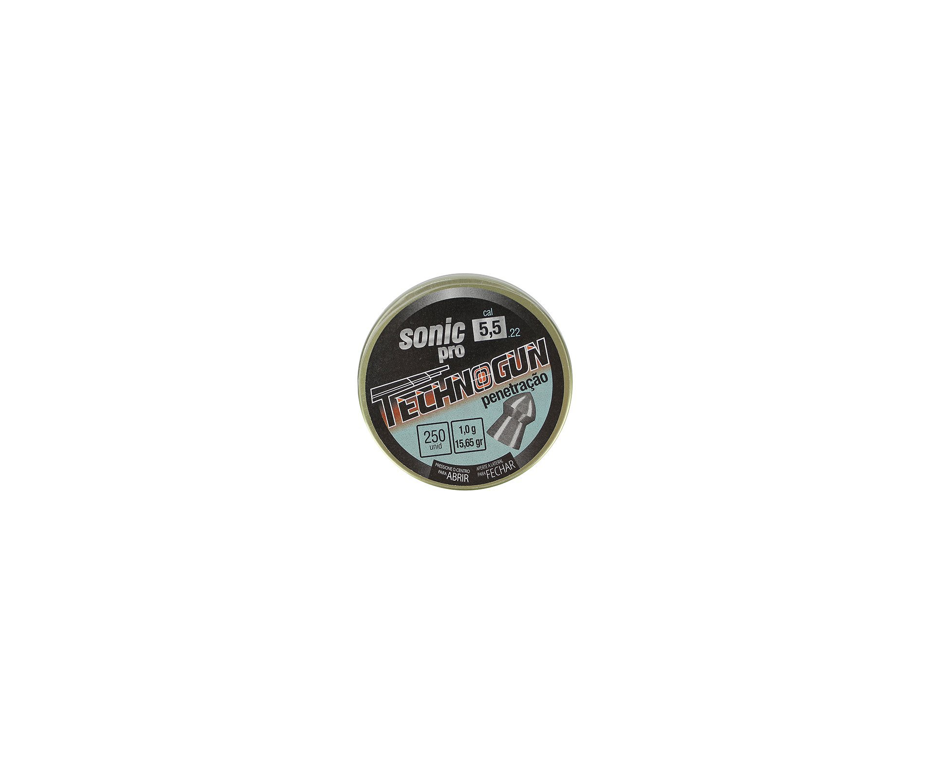 Chumbinho Sonic Pró - Calibre 5,5mm - Pote Com 250pcs - Technogun