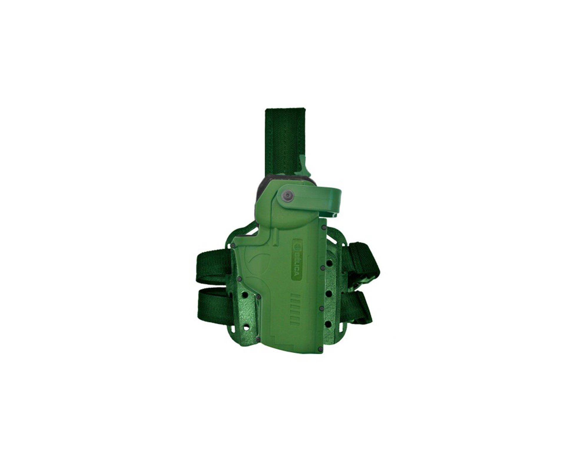Coldre De Perna Para Pistolas Universal Verde - Belica