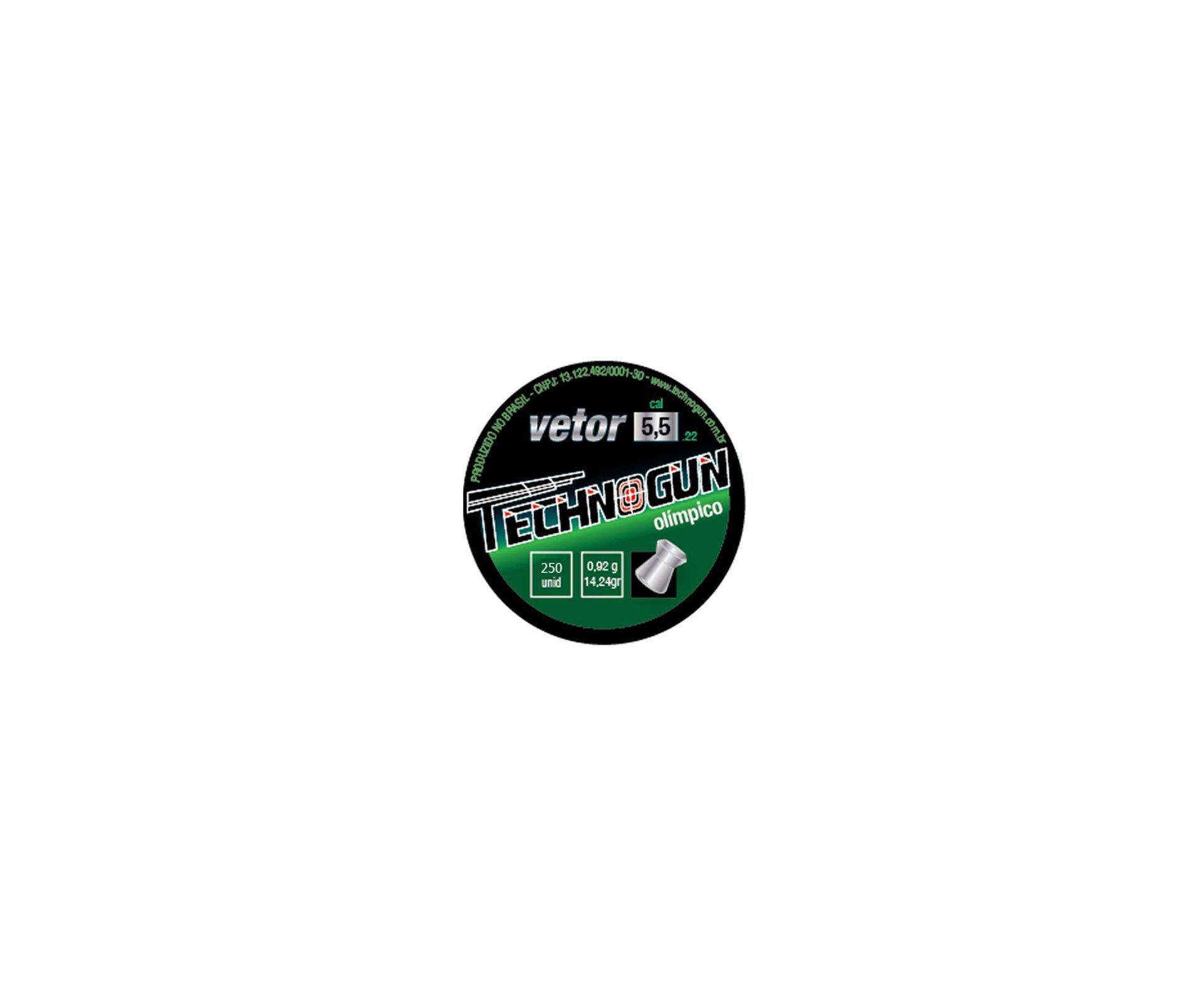 Kit Com 10 Latas Chumbinho Sonic/vetor Com 250 Und - Calibre 5,5 Mm