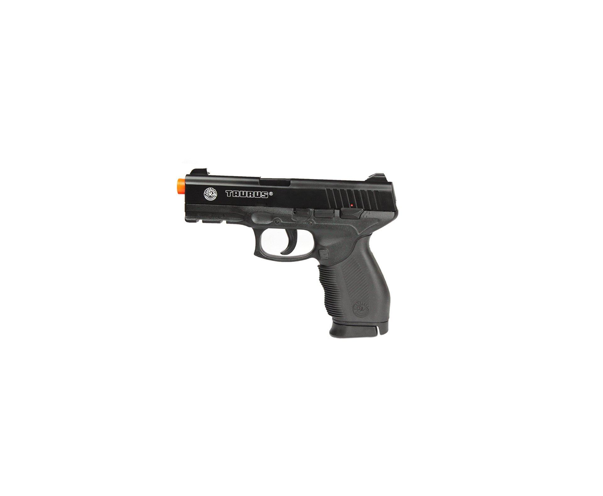 Pistola De Airsoft Taurus Pt 24/7 Semi/metal Cal 6,0 Mm + Rifle M4 Spring+ 4000 Esferas 0,12g