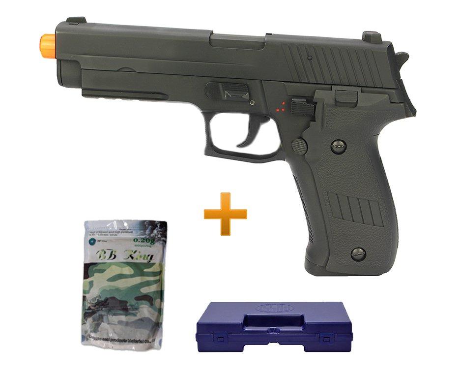 Pistola De Airsoft Sig Sauer P226 - Full Metal - Bivolt + Case Deluxe + Esferas 0,20 Bb King - Cyma