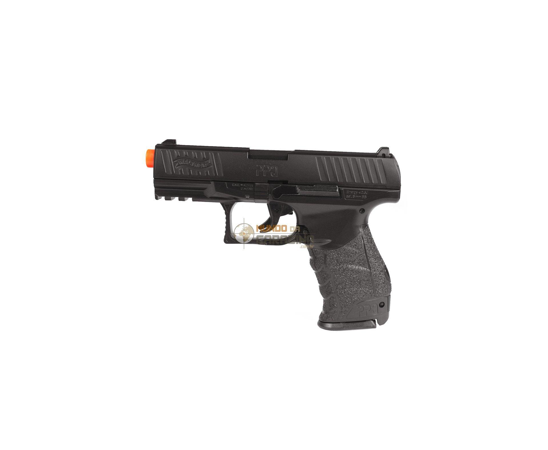 Pistola De Airsoft Walther Ppq Slide Metal - Cal 6mm + 4000 Esferas 0,12g + Case Deluxe