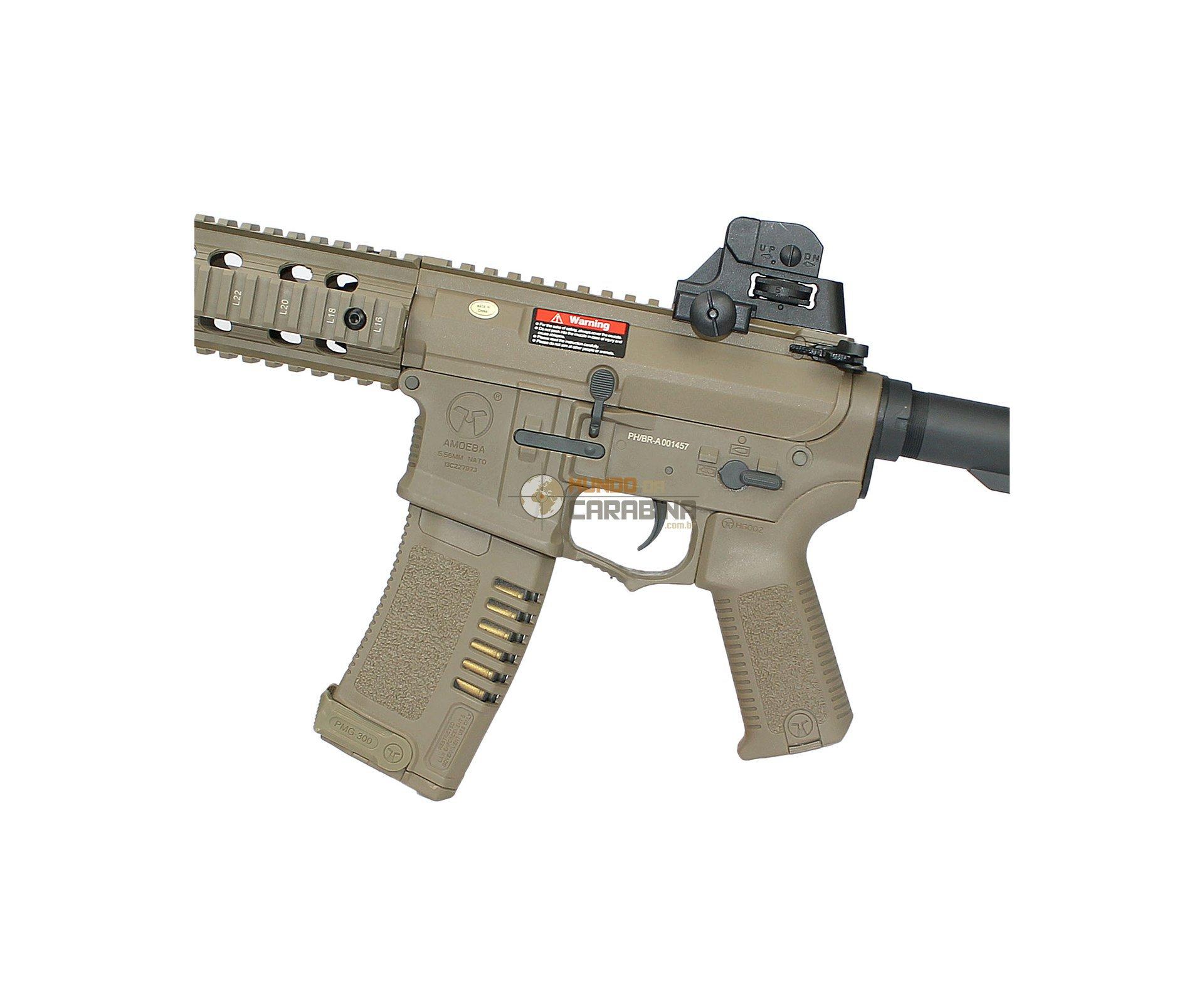 Rifle De Airsoft M4 Cqb Ris Amoeba Am-008-de- Cal 6.0mm - Ares