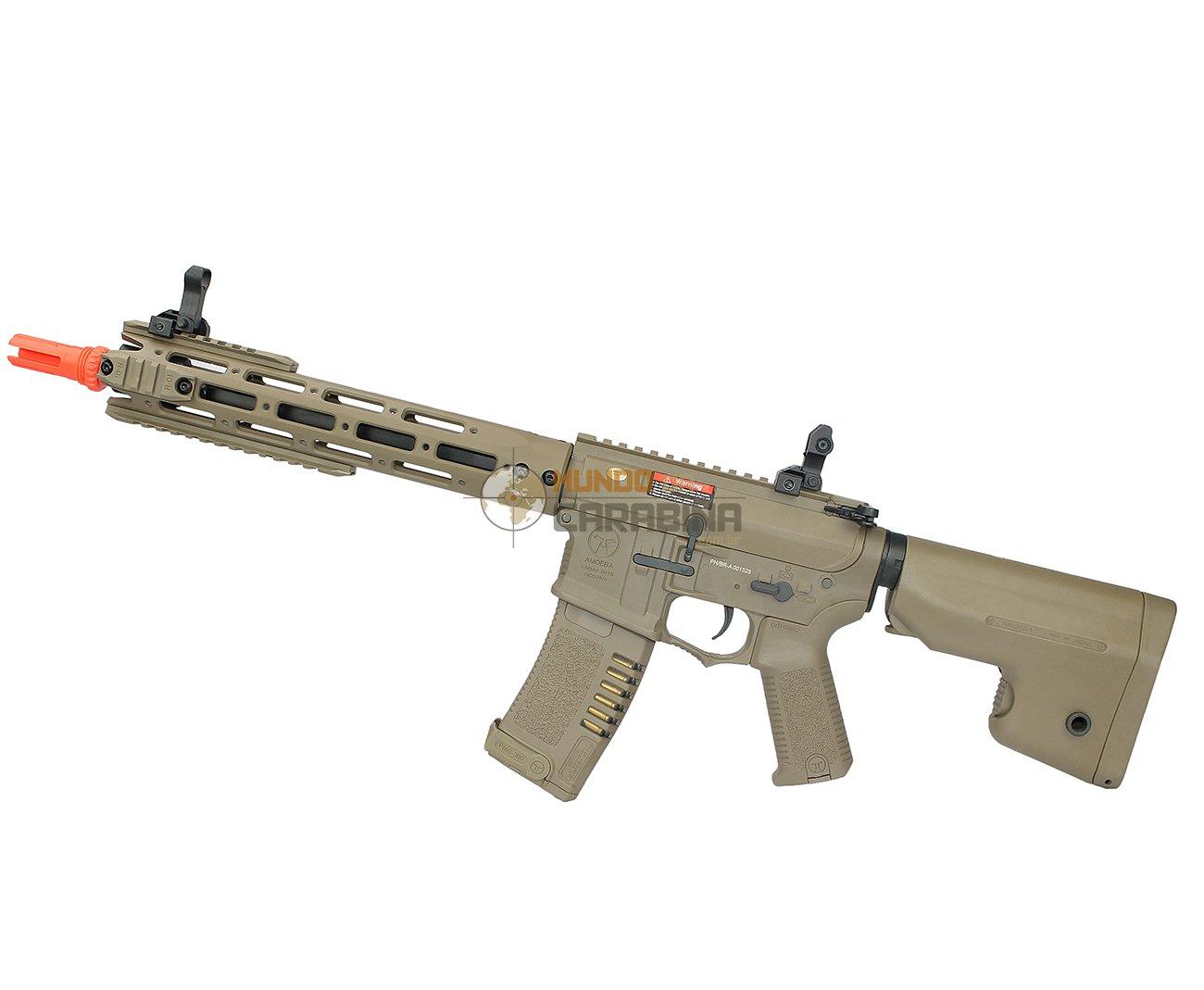 Rifle De Airsoft M4 Ris Long Amoeba Am-009-de - Cal 6.0mm - Ares