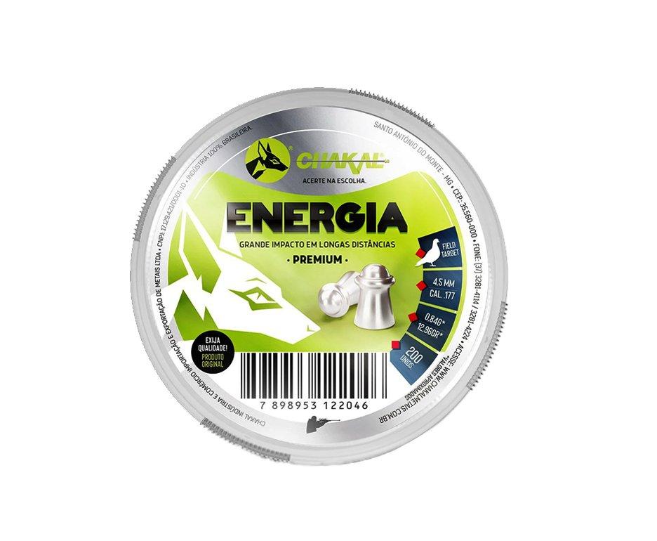 Chumbinho Energia Calibre 4,5 Mm - 200 Unidades - Chakal
