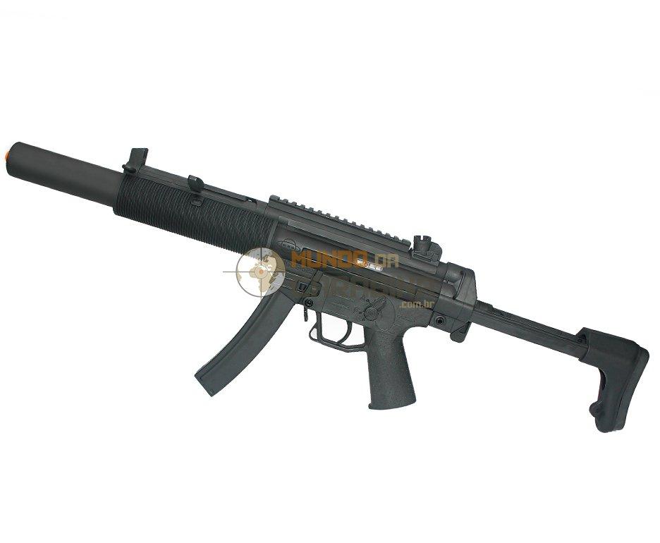 Rifle De Airsoft Gsg 522 Is Blow Black - Full Metal - Calibre 6,0 Mm