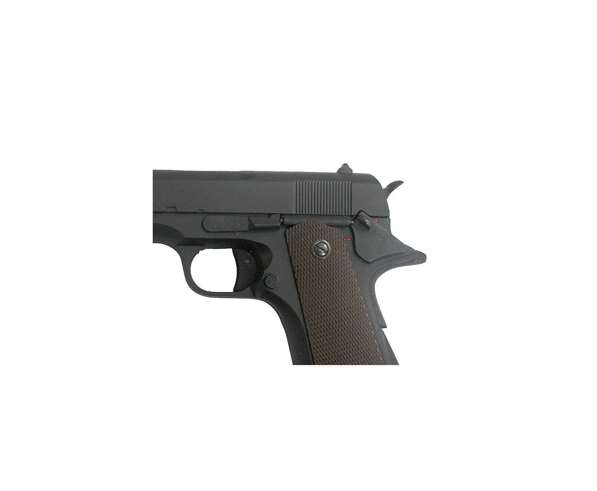 Pistola De Airsoft Colt 1911 - Full Metal Eletrica Bivolt - Calibre 6,0 Mm - Cyma Cm 123