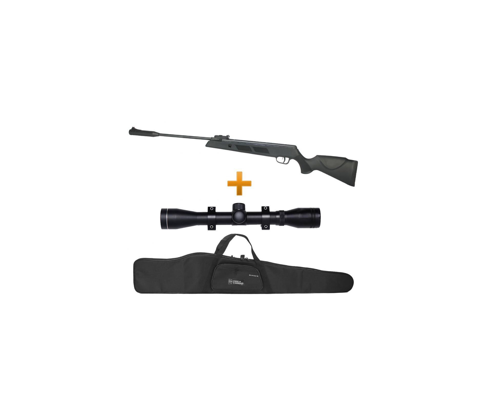 Carabina De Pressão Black Hawk 4,5 + Luneta 4x32 + Capa - Artemis Fixxar
