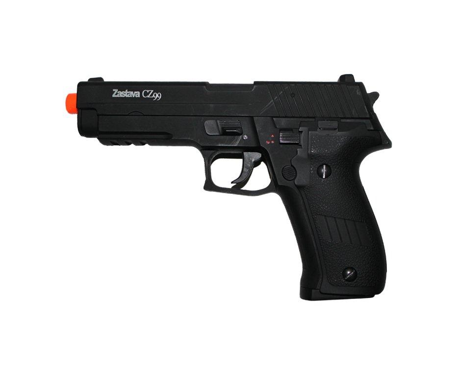 Pistola De Airsoft Cz99 Eletrica - Full Metal - Calibre 6,0 - Asg - 110 V