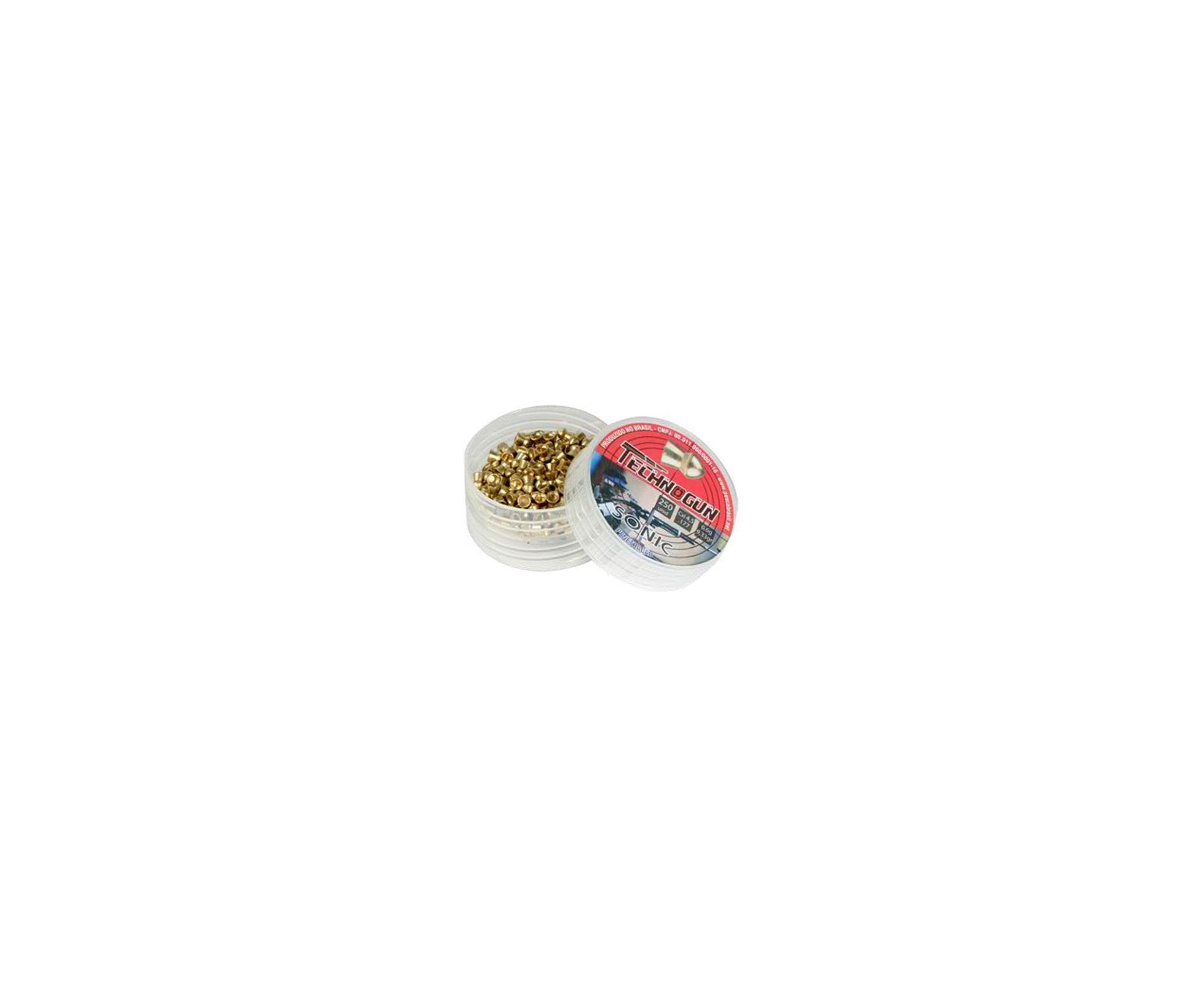 Chumbinho Sonic Gold Latonado Calibre 4,5 Mm - 250 Unidades - Technogun