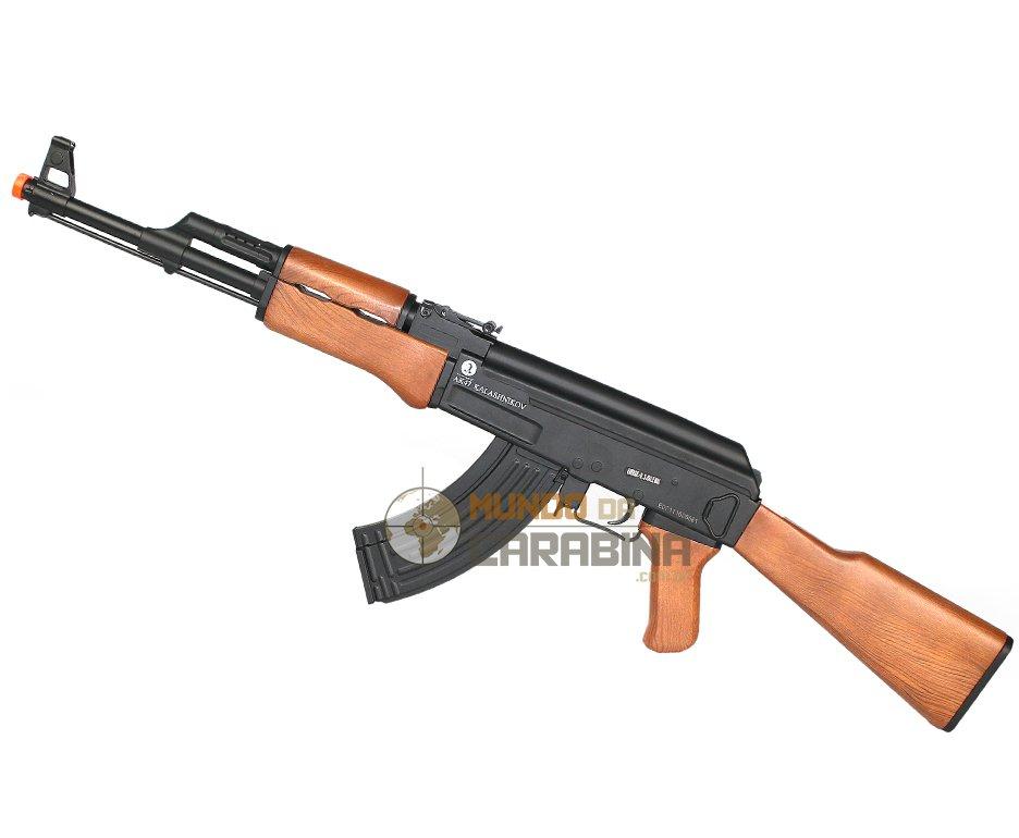 Rifle De Airsoft Ak47 Toy - Calibre 6,0 Mm - Kalashnikov (cyber Gun)