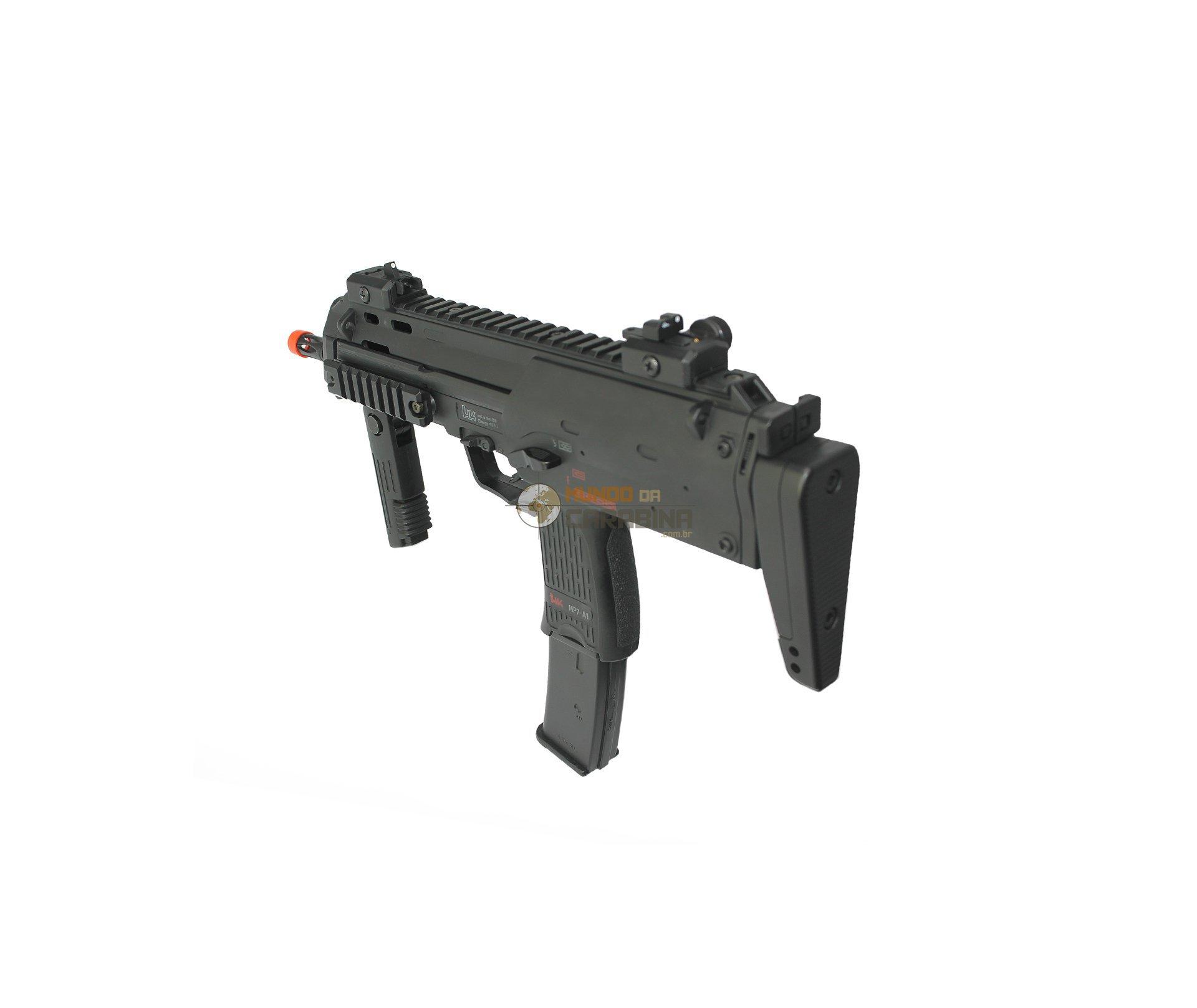 Rifle De Airsoft H&k Mp7 A1 Swat Full Metal 6mm - Bivolt - Umarex