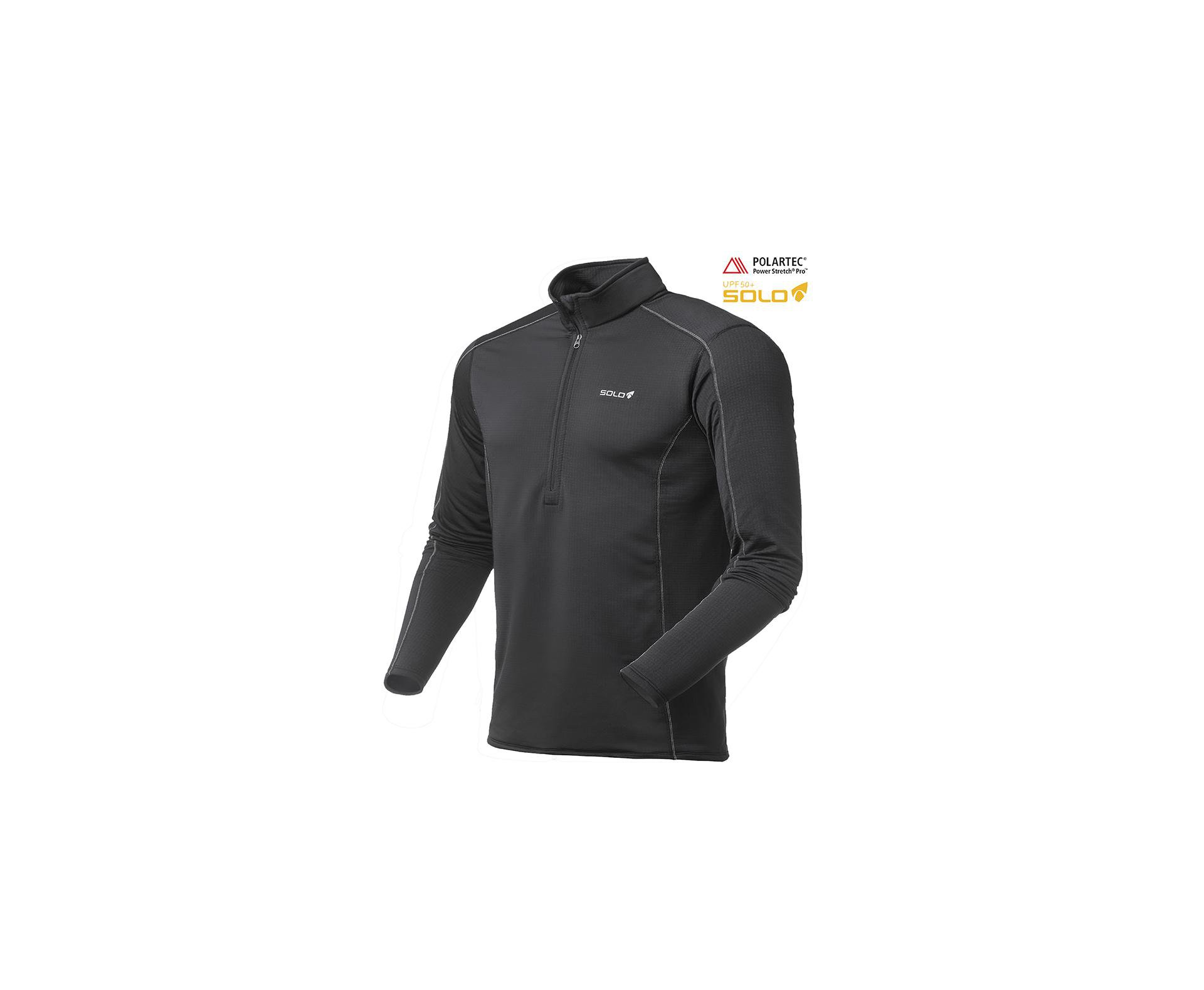 Blusa X-thermo Air Zip - Preto - Solo