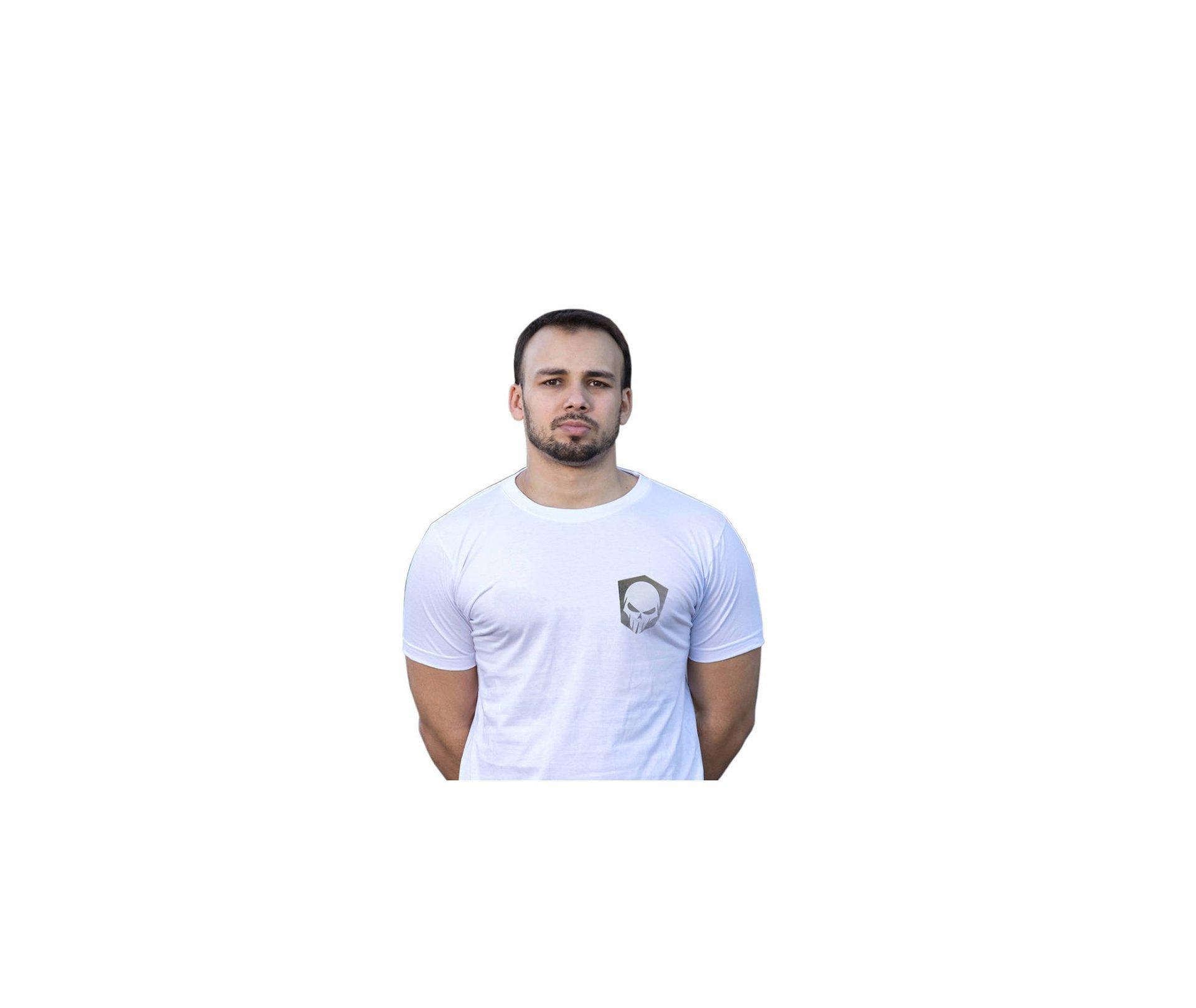 Camiseta Estampada Caveiras Bravo 9- Branca - Bravo