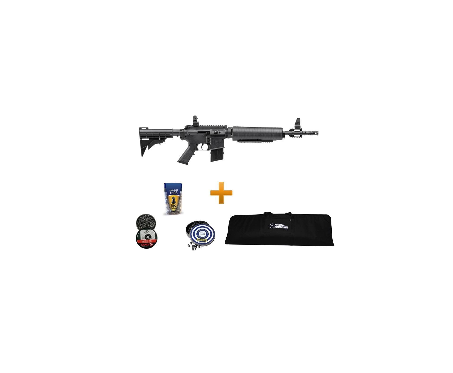 Carabina De Ar Crosman M4-177 Multi Pump - Cal 4,5 Mm + Capa Especial + Chumbinhos