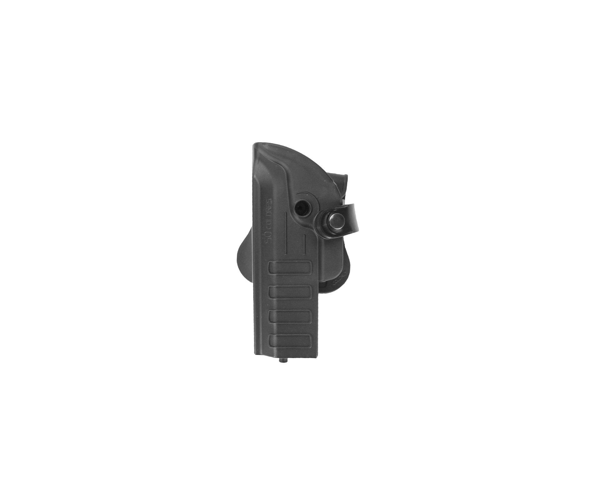 Coldre Pistola Taurus E Glock Com Suporte De Lanterna Ou Laser Destro - So Coldres