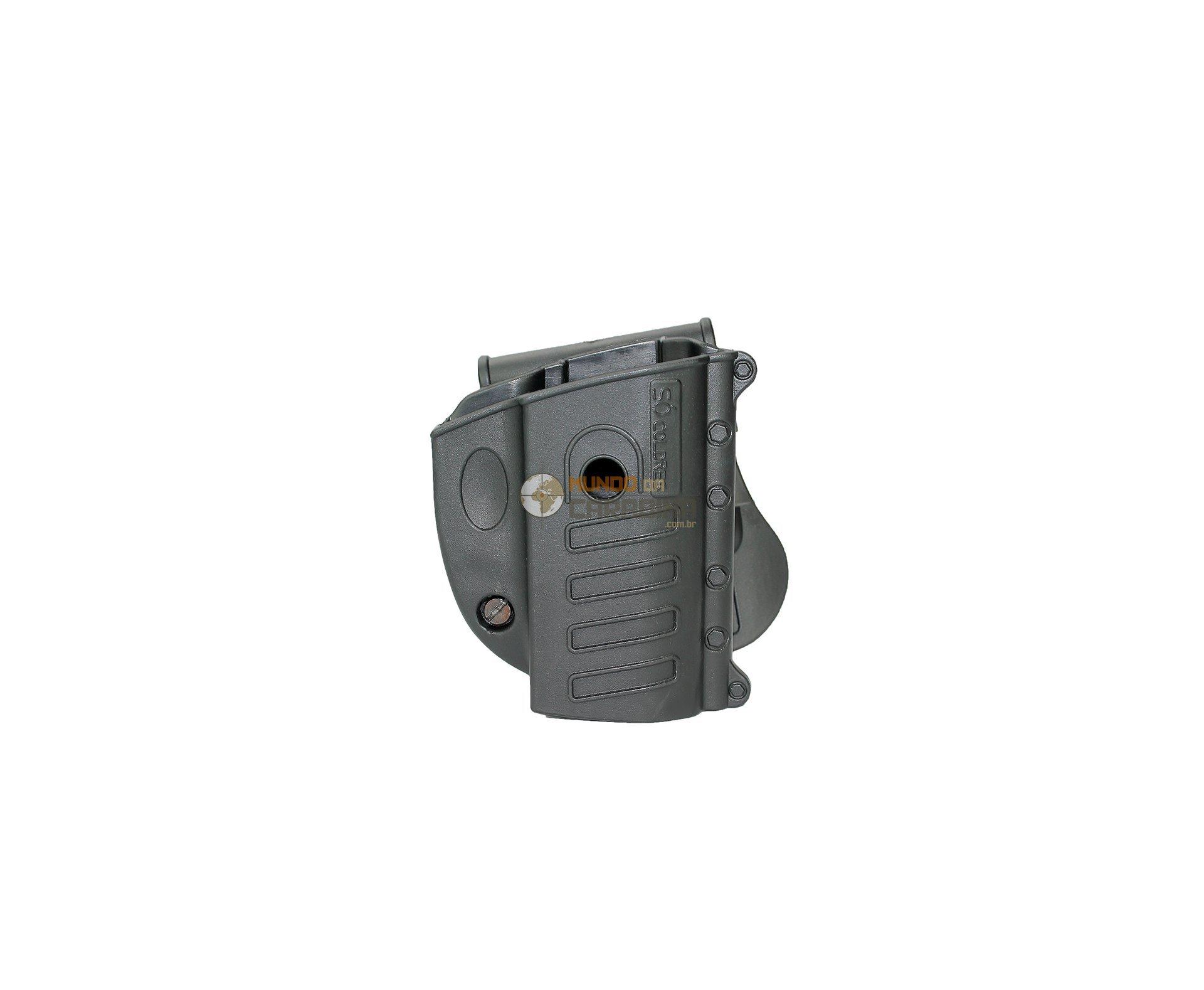 Coldre Universal Com Trava De Pressão Taurus, Glock E Grand Power Canhoto - So Coldres