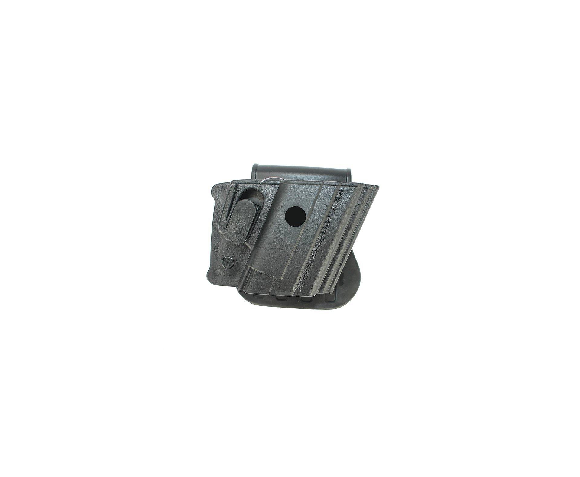 Coldre Para Pistola Universal Cintura Rotativo Com Trava - Destro So Coldres