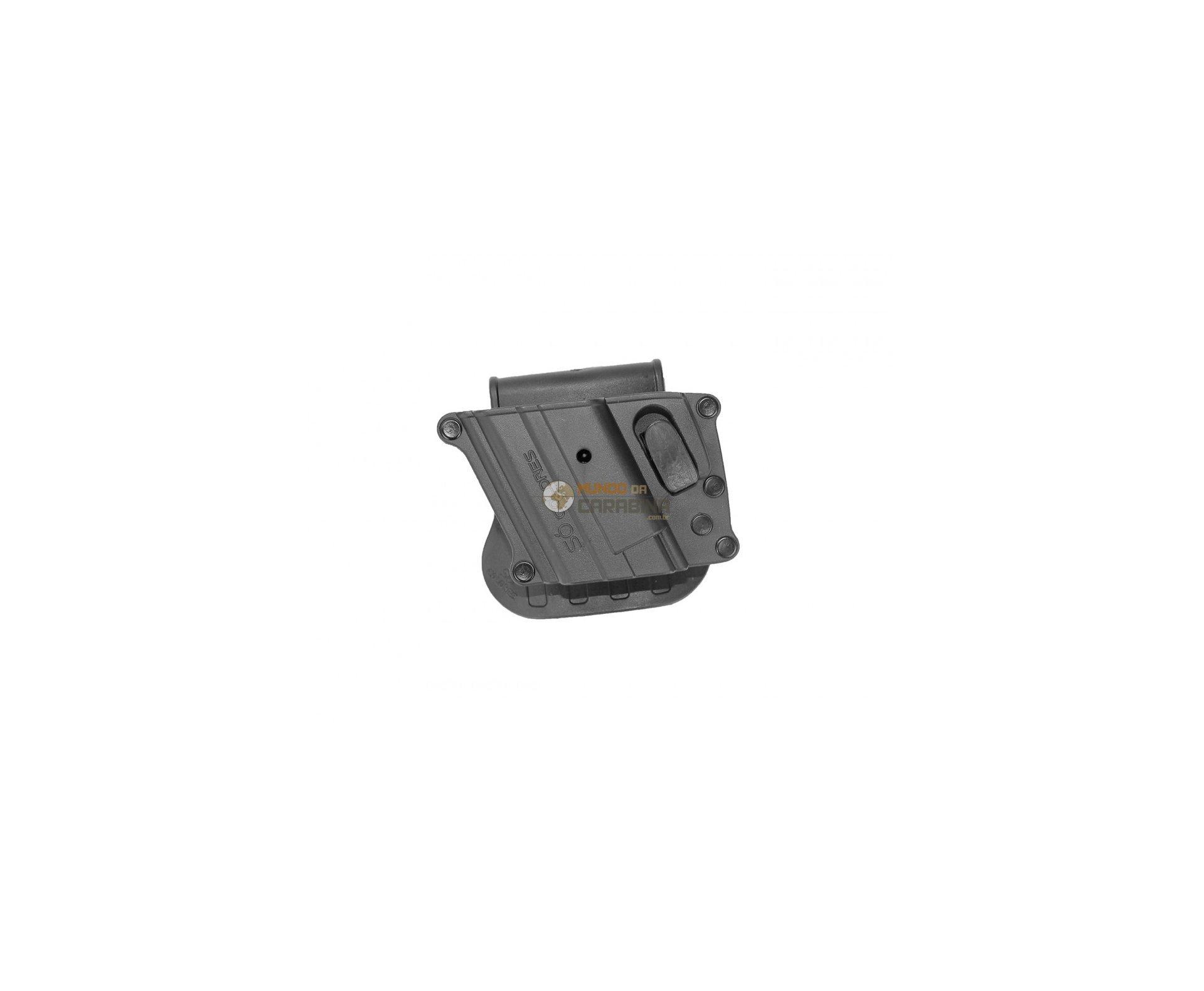 Coldre Para Pistola Universal Cintura Rotativo Com Trava - Canhoto So Coldres