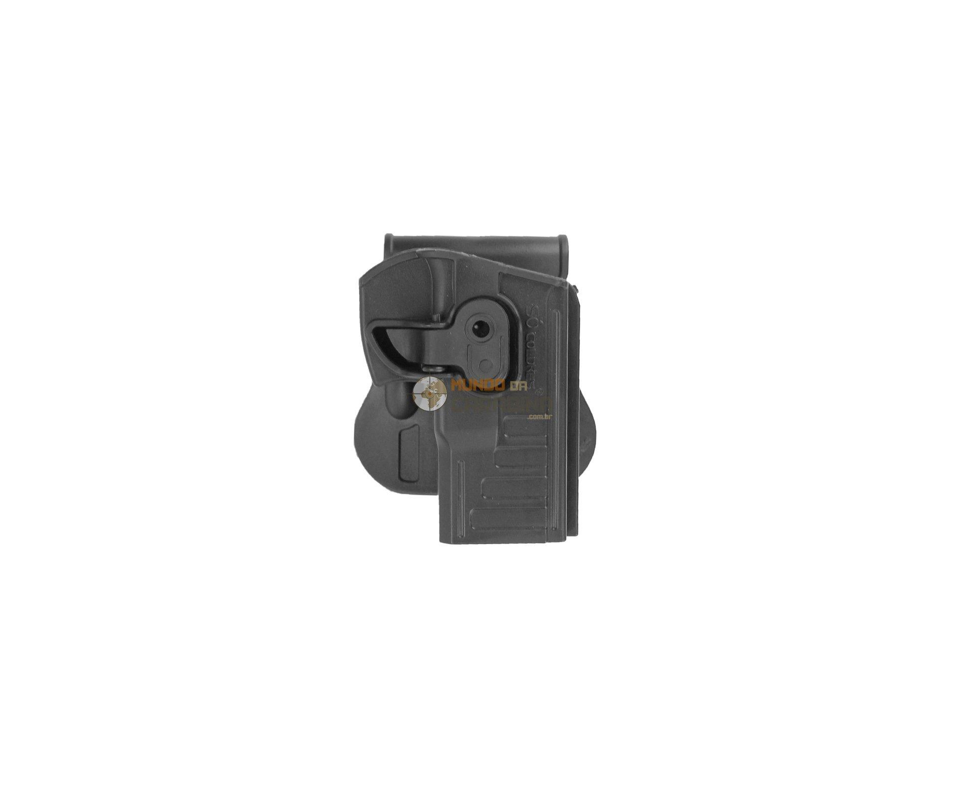 Coldre De Cintura Com Trava Pistola Taurus Pt 24/7 -838-840 (canhoto) - Só Coldres