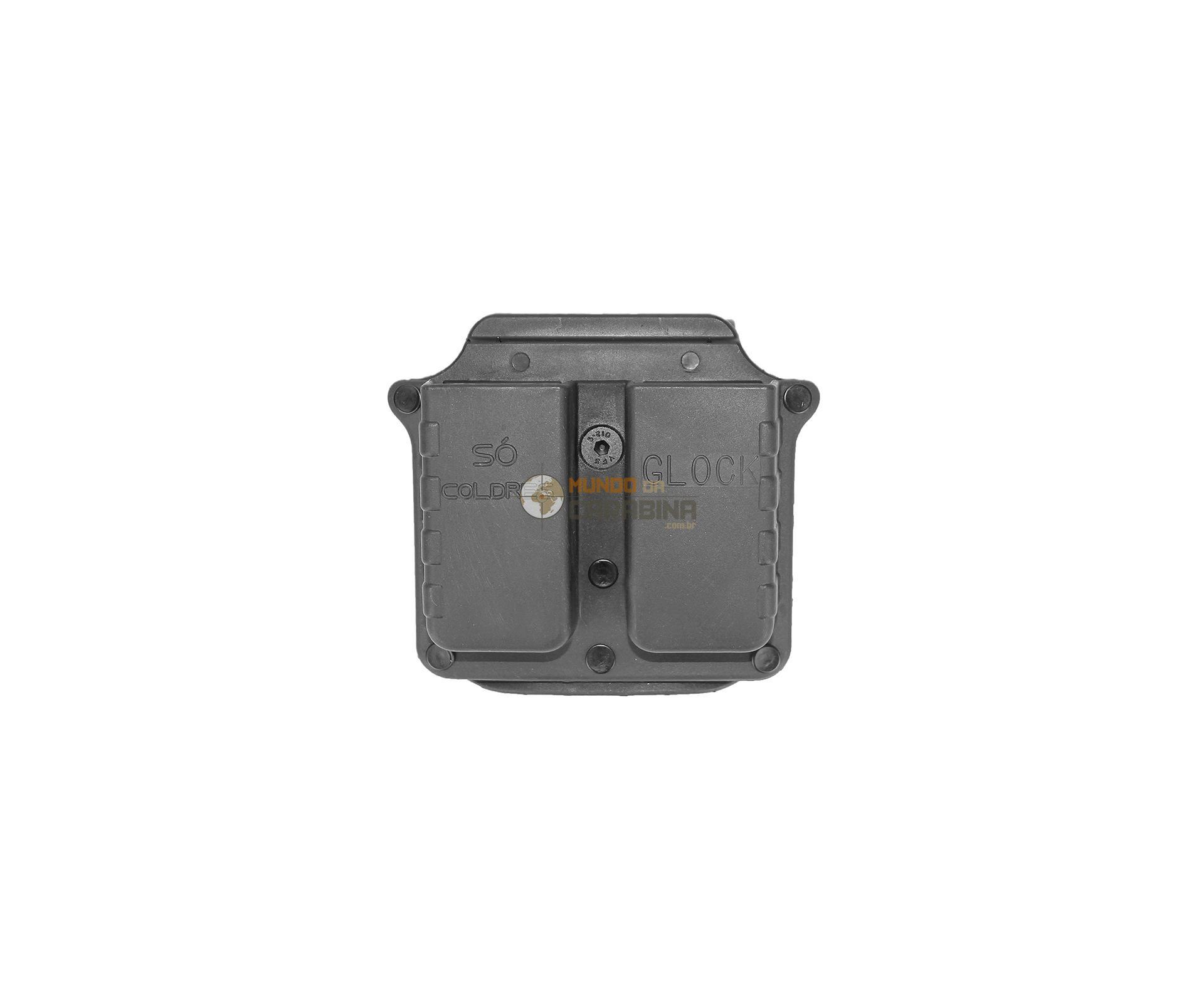 Porta Carregador Duplo Pistola Glock - So Coldres
