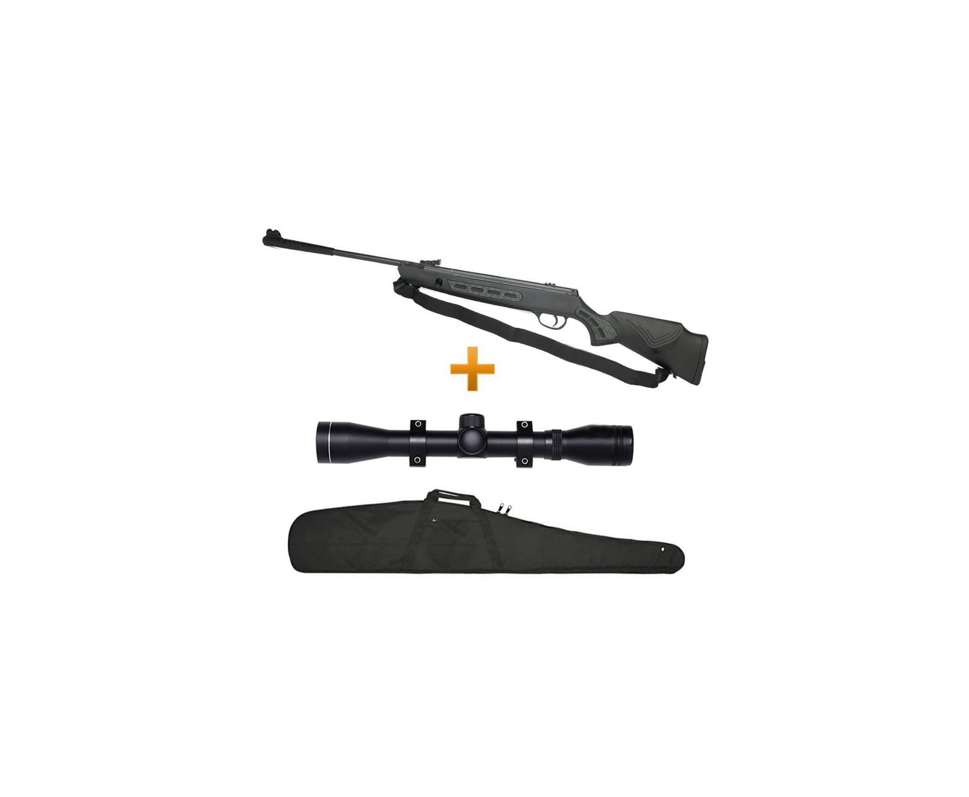 Carabina De Pressão Hatsan Striker 1000s 5,5mm + Luneta 4x32 + Capa