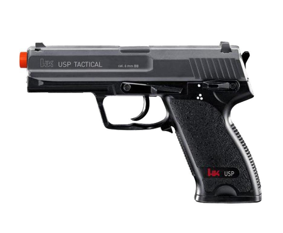 Pistola De Airsoft Eletrica Hk Usp Tactical - Calibre 6,0 Mm - Semi Metal - Umarex - 110 V