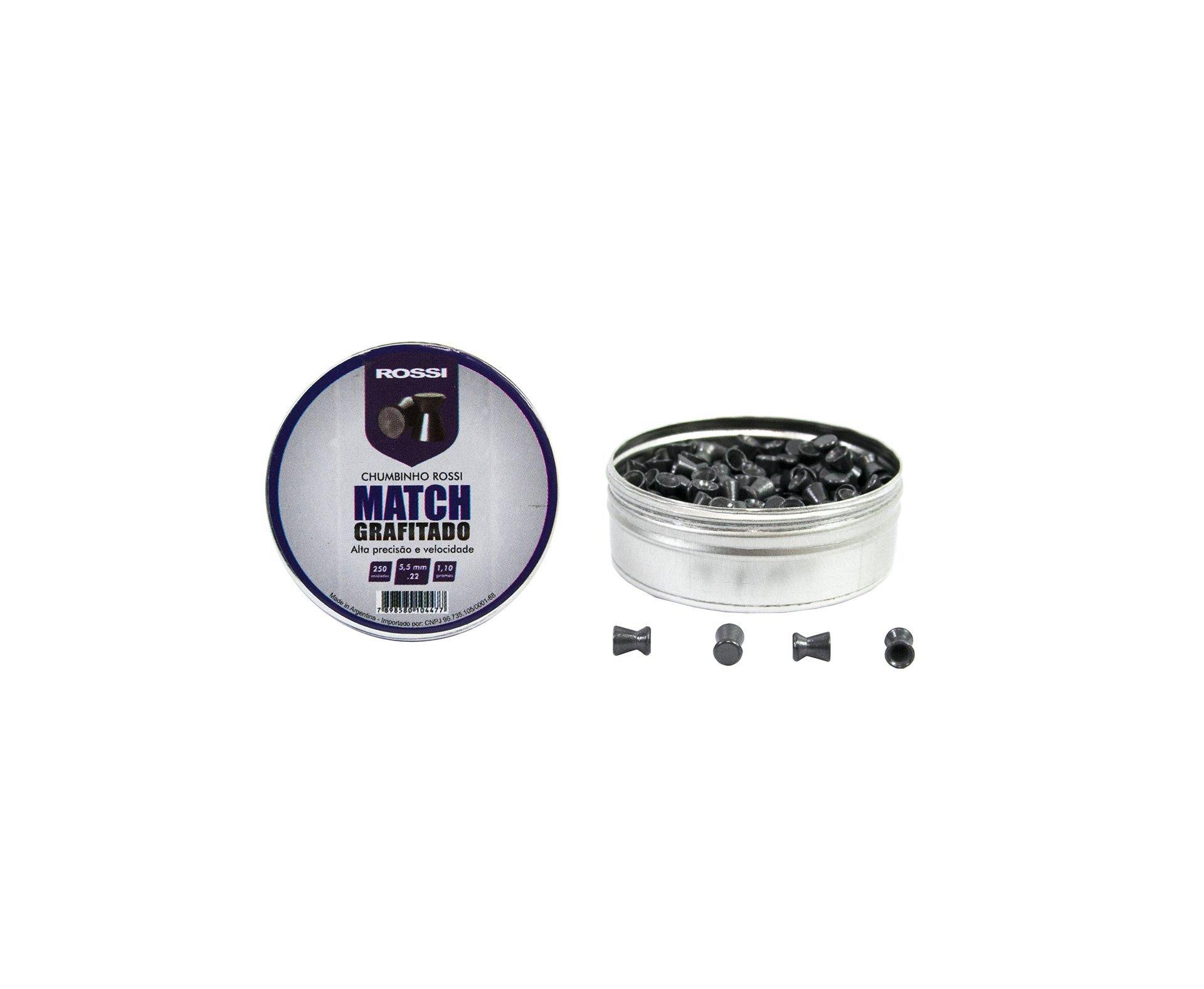 Chumbinho Match Grafitado 5,5mm (250un) - Rossi
