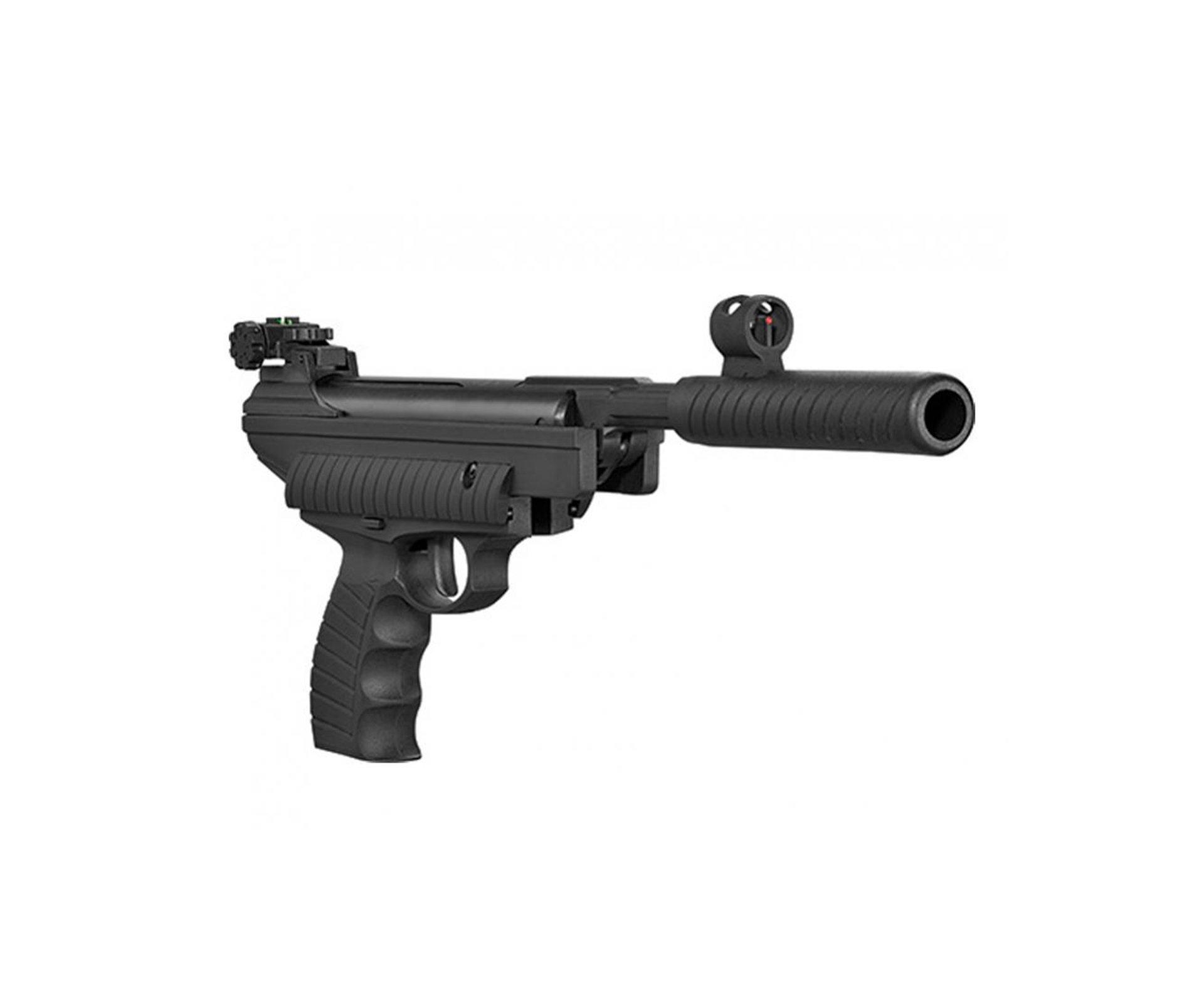 Pistola De Pressão Hatsan Ht 25 - Calibre 4,5 Mm + Coletor De Chumbinhos + Alvos + Chumbinhos + óculos De Proteção