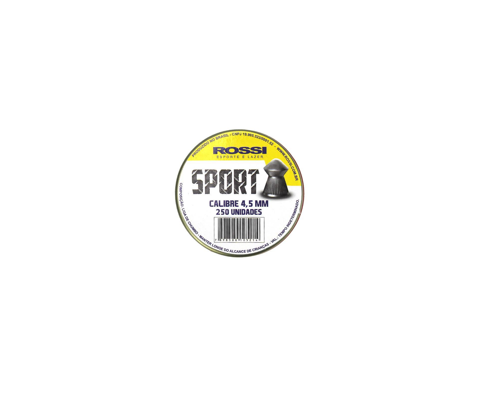 Chumbinho Sport 4,5mm (250un) - Rossi