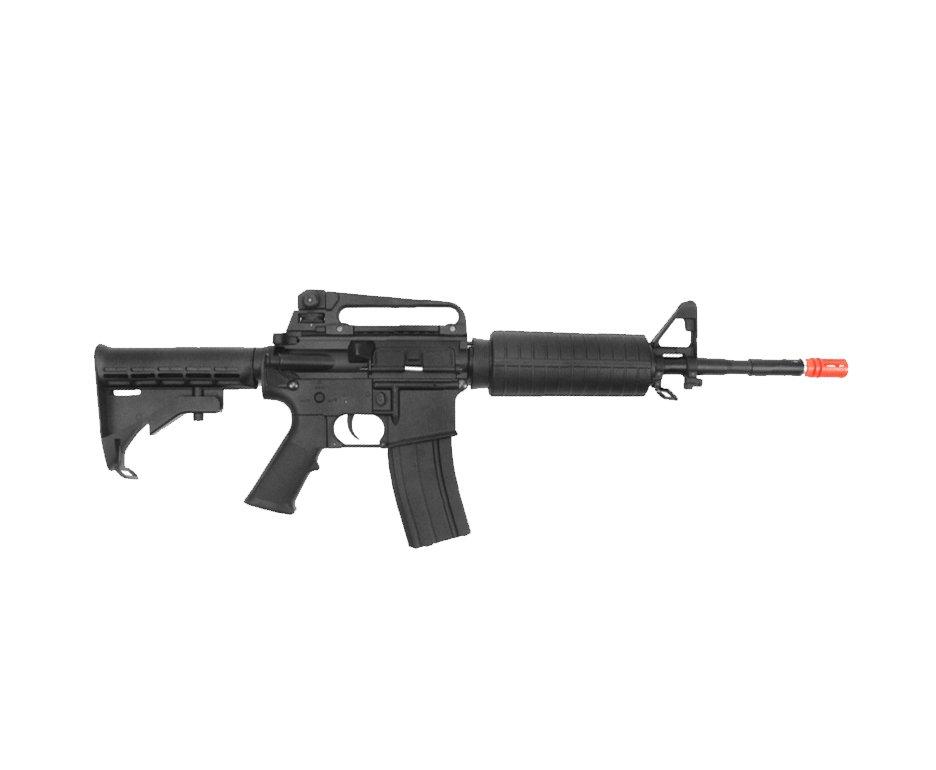 Rifle De Airsoft Colt M4a1 Carbine Semi/metal - Elétrico - Cal 6,0mm (cyber Gun) + Pistola P311 Stinger + Mochila Rossi ()