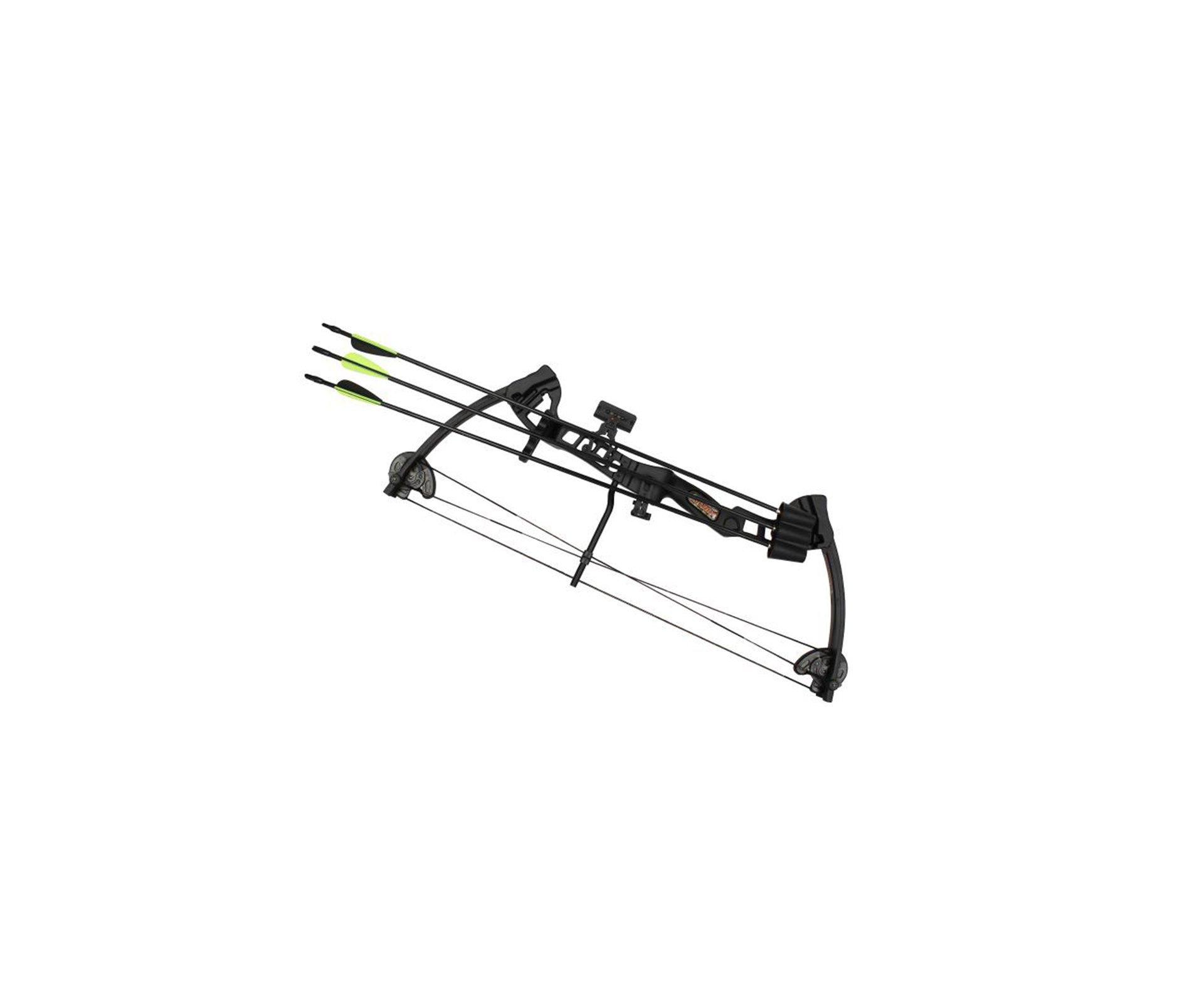 Arco Vortex Lite 18 - 29 Lbs Com 2 Flechas Destro - Black - Barnett
