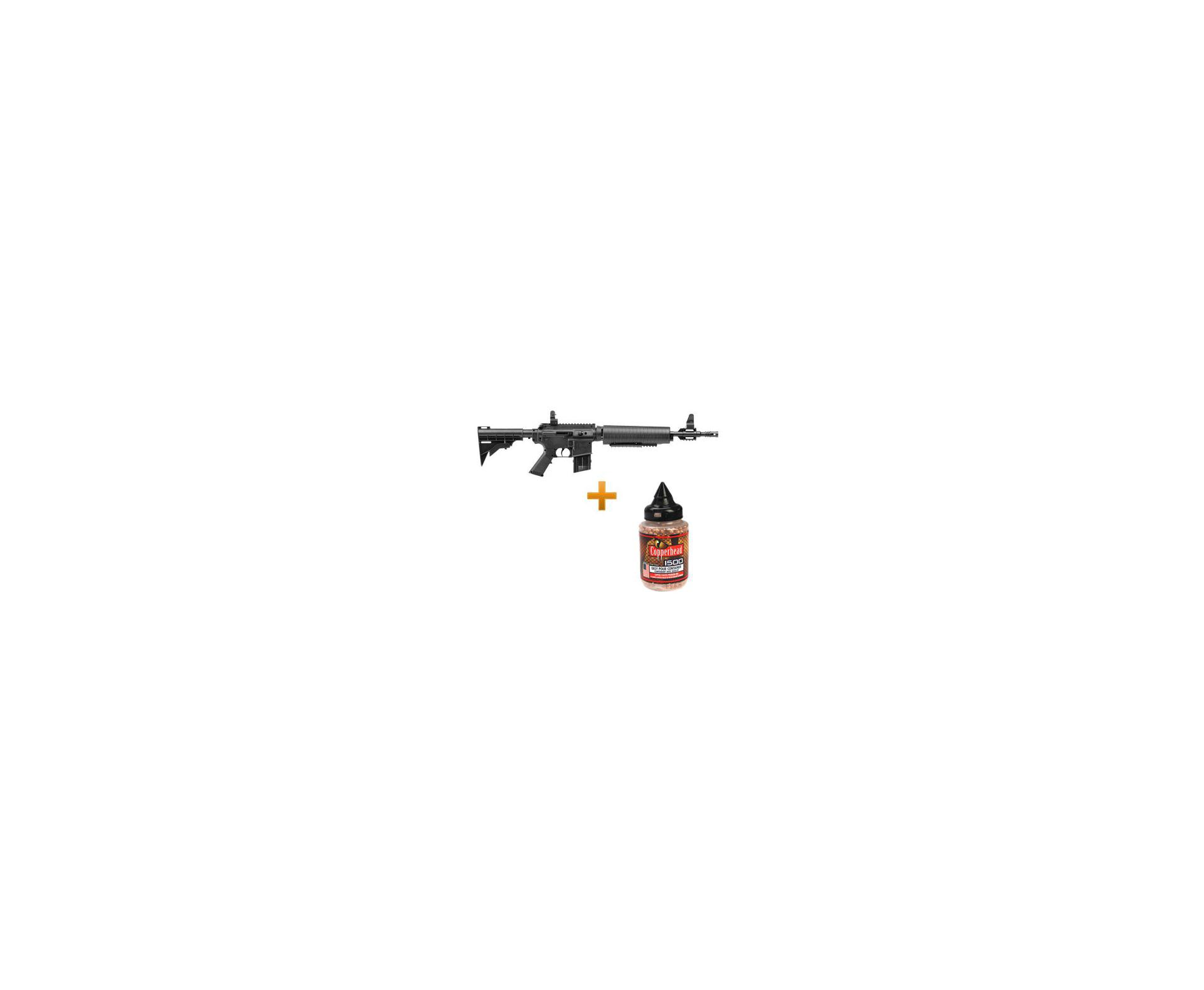 Carabina De Ar Crosman M4-177 Multi Pump - 4,5 Mm + 1500 Esferas Metalicas